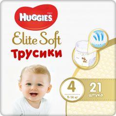 Трусики-подгузники Huggies Elite Soft 4, 9-14кг, 21шт.