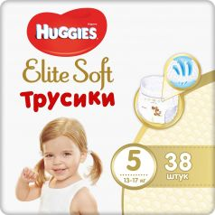 Трусики-подгузники Huggies Elite Soft 5, 12-17кг, 38шт.