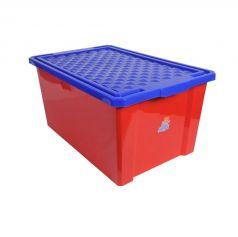 Ящик для хранения игрушек Little Angel красный, 57л