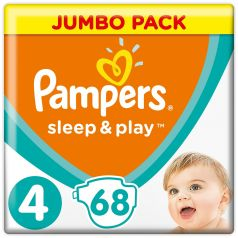 Подгузники Pampers Sleep&Play Maxi 4 (9-14кг), 68шт.