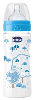 Бутылочка Chicco Well-Being Boy, с силиконовой соской, 330мл