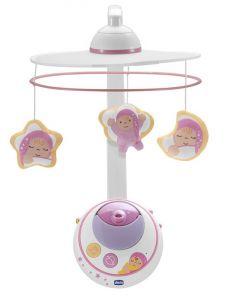 """Мобиль для кроватки Chicco """"Волшебные звезды"""", розовый"""