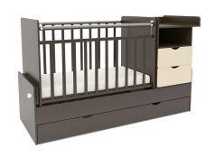Кровать-трансформер Sweet Baby Valentino Wenge Avorio