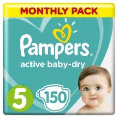 Подгузники Pampers Active Baby-Dry 5 (11-18кг), 150шт.