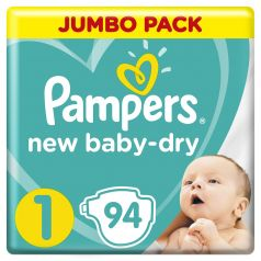 Подгузники Pampers New Baby-Dry 1 (2-5кг), 94шт.