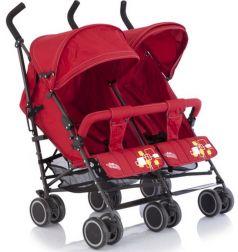 Коляска-трость для двойни Baby Care City Twin Red