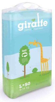 Подгузники-трусики Lovular Giraffe L (9-14кг) 50шт.