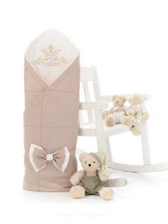 Одеяло-конверт на выписку Sweet Baby Fiocco, бежевое