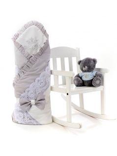Одеяло-конверт на выписку Sweet Baby Ricciolo, серое