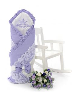 Одеяло-конверт на выписку Sweet Baby Ricciolo, лавандовое