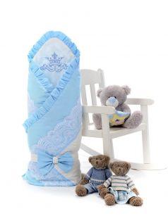 Одеяло-конверт на выписку Sweet Baby Ricciolo, голубое