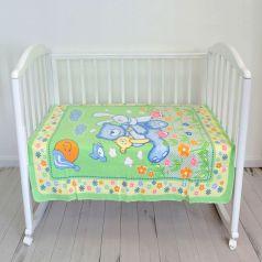 """Одеяло байковое Baby Nice """"Мишка на лужайке"""", 100х118см, салатовое"""