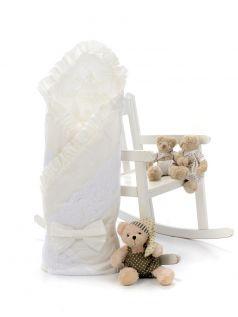 Одеяло-конверт на выписку Sweet Baby Ricciolo, белое