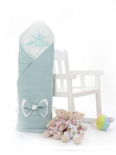 Одеяло-конверт на выписку Sweet Baby Fiocco, мятное