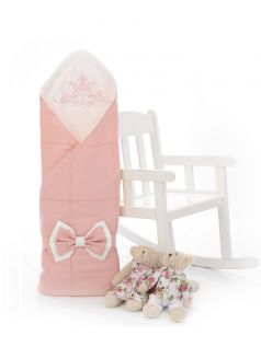 Одеяло-конверт на выписку Sweet Baby Fiocco, пудровое