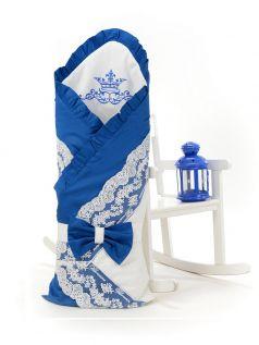 Одеяло-конверт на выписку Sweet Baby Ricciolo, синее