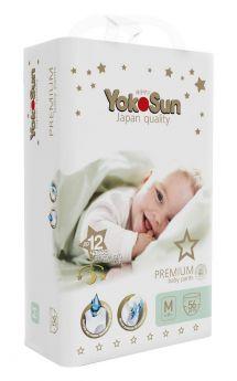 Подгузники-трусики YokoSun Premium M (6-10кг), 56шт.