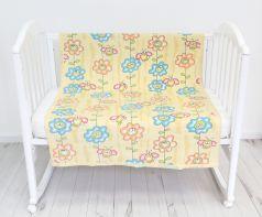 """Одеяло байковое Baby Nice """"Божья коровка на цветке"""", 100х140см, желтое"""