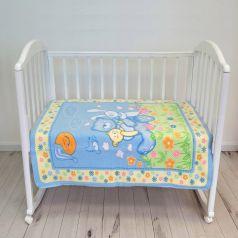 """Одеяло байковое Baby Nice """"Мишка на лужайке"""", 100х118см, голубое"""