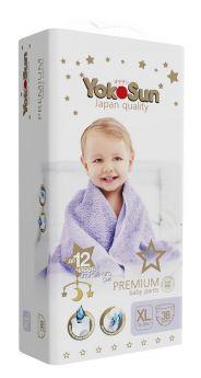 Подгузники-Трусики YokoSun Premium XL (12-20кг), 38шт.