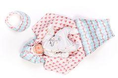 """Конверт для новорожденного Топотушки """"Обнимашки"""", с капюшоном """"Фламинго"""""""