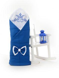 Одеяло-конверт на выписку Sweet Baby Fiocco, синее