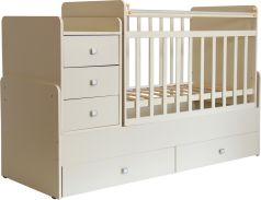 Кровать детская Фея 1100, слоновая кость