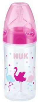 """Бутылочка NUK New Classic """"Фламинго"""" с силиконовой соской, 150мл, розовая"""