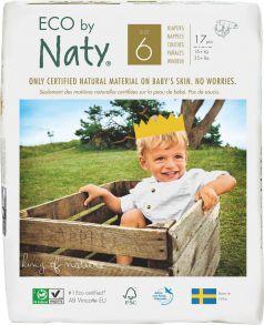 Подгузники Naty 6, 16+кг, 17шт.