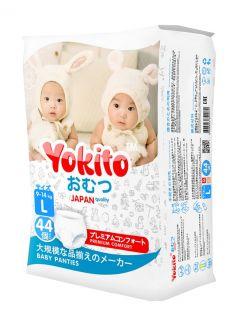 Подгузники-трусики Yokito L (9-14кг), 44шт.
