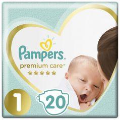 Подгузники Pampers Premium Care Newborn (2-5кг), 20шт.