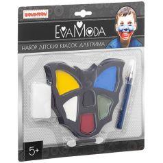 """Набор Bondibon Eva Moda """"Детские краски для грима"""", 6 цветов"""