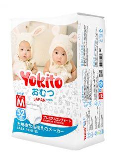 Подгузники-трусики Yokito M (5-10кг), 52шт.