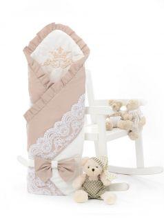 Одеяло-конверт на выписку Sweet Baby Ricciolo, бежевое