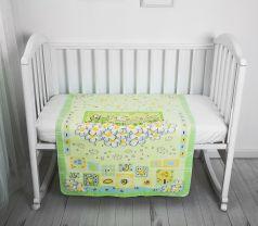 """Одеяло байковое Baby Nice """"Паровозик"""" 85х115см, салатовое"""