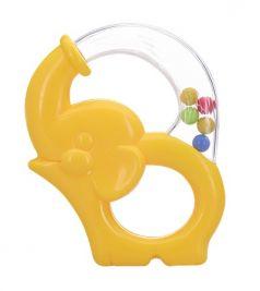 Игрушка-погремушка Мир детства «Радужный Слоник», желтая