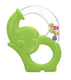 Игрушка-погремушка Мир детства «Радужный Слоник», зеленая