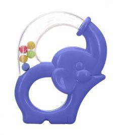 Игрушка-погремушка Мир детства «Радужный Слоник», синий