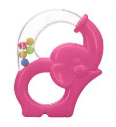 Игрушка-погремушка Мир детства «Радужный Слоник», розовая