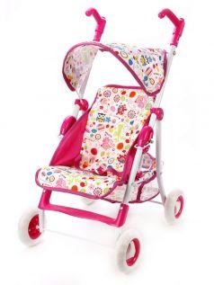 """Прогулочная коляска Mary Poppins """"Фантазия"""" для куклы 42х35см, малиновая"""