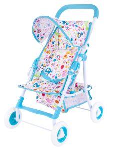 "Прогулочная коляска Mary Poppins ""Фантазия"" для куклы 43х35см, голубая"