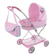 """Коляска-люлька Mary Poppins """"Зайка"""" для куклы, розовая"""
