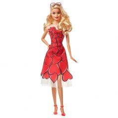 Кукла Barbie в красном платье, коллекционная