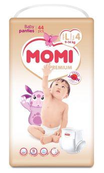 Подгузники-трусики Momi Premium L (9-14кг), 44шт.
