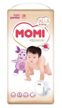 Подгузники-трусики Momi Premium XL (12-20кг), 38шт.