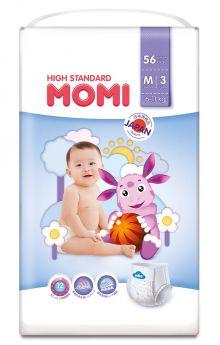 Подгузники-трусики Momi High Standard M (6-11кг), 56шт.