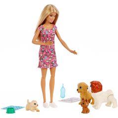 Кукла Barbie и щенки