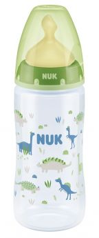 Бутылочка NUK First Choice Plus M с соской из латекса, 300мл, зеленая