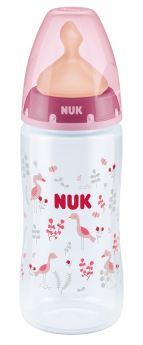 Бутылочка NUK First Choice Plus M с соской из латекса, 300мл, розовая