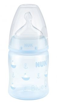 """Бутылочка NUK FC+ Baby Blu """"Кораблик"""" M, с силиконовой соской, 150мл"""